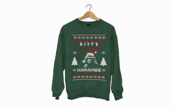 Gifts Out for Harambe Christmas Sweater !