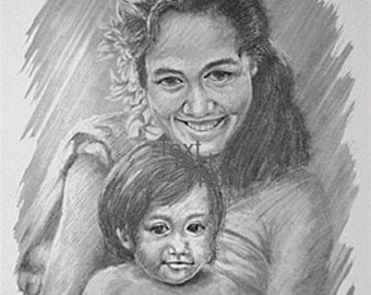 Print-Tahiti - Mother and Child series