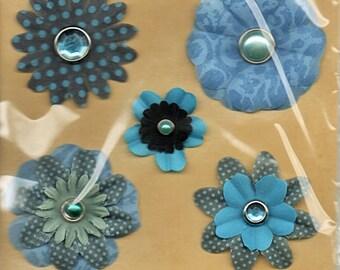 Flower Brads Gems Paper Studio Spare Parts Scrapbook Embellishments Cardmaking Crafts