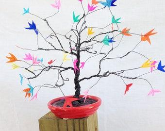 Rainbow bonsai sculpture