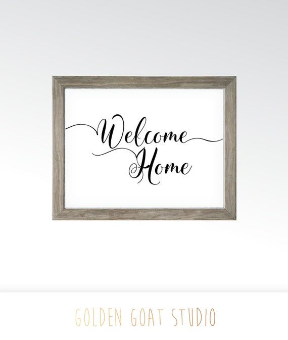 Printable Welcome Home Sign: Welcome Home Sign Printable Digital Art Instant Download