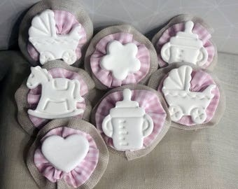 Bimba-Coccardine baptism, christening party favors, place card
