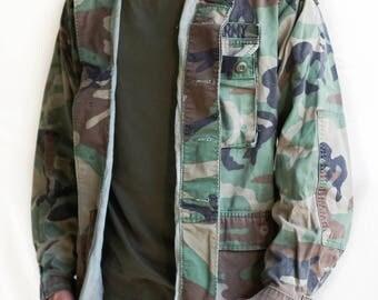 Vintage Army Jacket / Vintage Authentic Army Jacket / Men's Medium Camouflage Jacket / Vintage Military Army Jacket / Vintage Men's Clothing