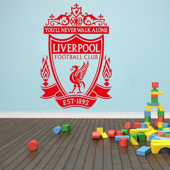 Vinyl Wall Decal - Liverpool Soccer Football team logo Wall Sticker School Sports Wall Decals For Boy kids room Bedroom