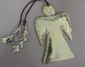 Angel handmade solid bronze
