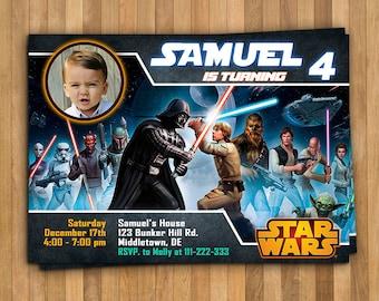 Star Wars Invitation. Star Wars Birthday Invitation. Printable Star Wars. Star Wars Party. Star Wars Invite
