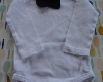 Maternity gift: Romper with crochet noose tie
