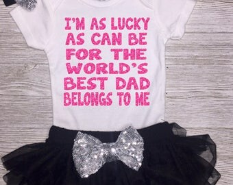 1st Father's Day Outfit | Father's Day Gift | First Fathers Day | Father Daughter | Baby Girl Clothing | Daddy Gift