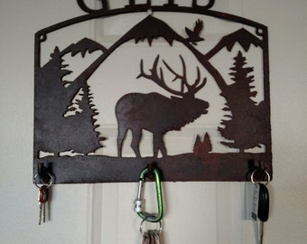 Personalized Elk Panel with Hooks