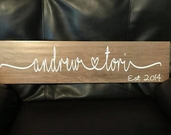 Custom Ceramic Wood Tile Sign
