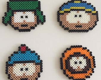 South Park Coaster Set - Set of 4 - Perler Beads