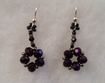 Handmade Beaded Flower Earrings