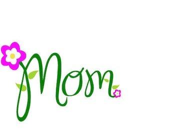 MOM Mothers Day laptop cup decal  outline SVG Digital Download Cuttable Files Cricut Silhouette