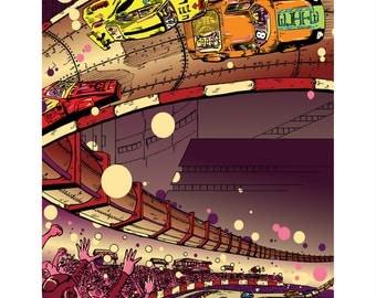 Final Lap // art print // sci fi // illustration // racing