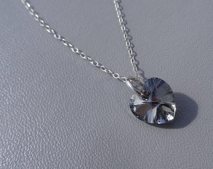 Swarovski Crystal Heart Necklace,Swarovski Crystal Heart Pendant,Heart Necklace,Heart Pendant,Swarovski Necklace,Crystal Pendant