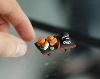 Set sushi miniature - qualité exceptionnelle (fimo)