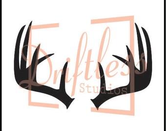 Deer Antler Stencil