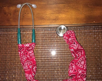 Bandanna pattern stethoscope cover