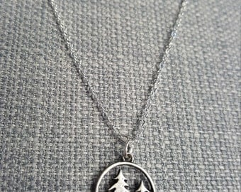 Trees - Pine Trees - Pines - Outdoors - Nature - Tree Necklace - Explore - Woods - Travel - Camping