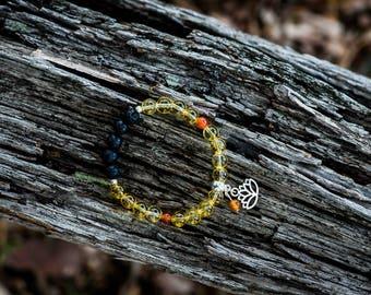 ENERGISING | Aromatherapy Gemstone Diffuser Bracelet