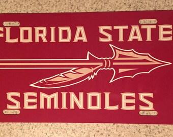Florida State Seminoles License Plate FSU Classy