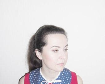 Detachable collar, peter pan collar, blue collar, removable collar, blue detachable collar, female collar, collar necklace, teenager gifts
