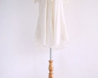 Ivory Cotton Blouse - TOP015