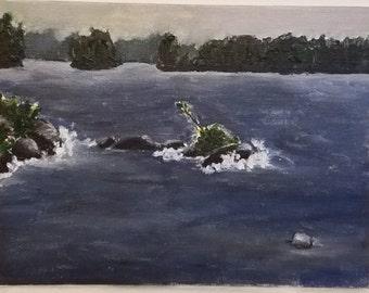 Summer Storm on Lake Muskoka - Original Painting