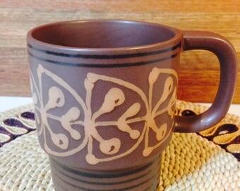 Funky 1970s Mikasa Brown Mug
