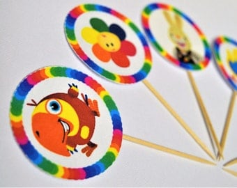 Baby First TV Cupcake Toppers/Food Picks Set of 13
