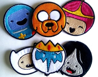 Adventure Time  patch, one 2,4EUR , set- 12 EUR!!! Finn and Jake, Finn  patch, Jake  patch, Ice King, BMO, Adventure Time Patches.