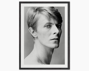 David Bowie Portrait - Black and White Photograph - Home Decor - Monochrome Art