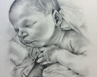Child's Portrait Pencil on Paper