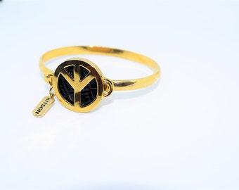 Kitson Peace Symbol Gold Bracelet