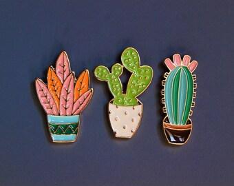 Enamel Pin Plants Set