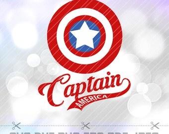 Captain America Logo Shield LAYERED SVG DXF Vector Cut File Cricut Design Silhouette Cameo Superhero Party Supply Justice League Vinyl Decal