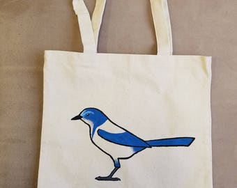Florida Scrub Jay Bird Tote Bag