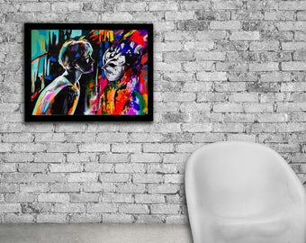 Oneness watercolor print, Teen boy art, Teen boy room decor, Teen boy wall art, Teen boy wall decor, Teen boy gifts, Teen picture, Oil print