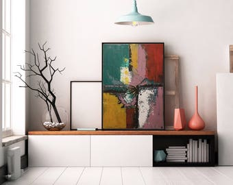 Home Decoration with Original Abstract Painting on Canvas Large Wall Art Contemporary Art with Texture - FREE Global Shipping
