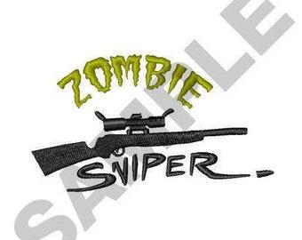 Zombie Sniper - Machine Embroidery Design