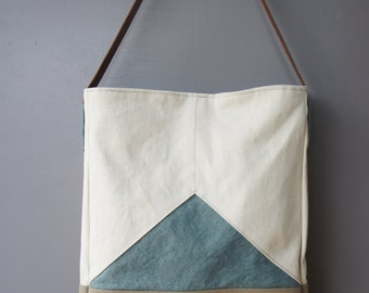 Triad Tote in Moody Blue