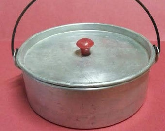 Vintage Tin Container with Handle
