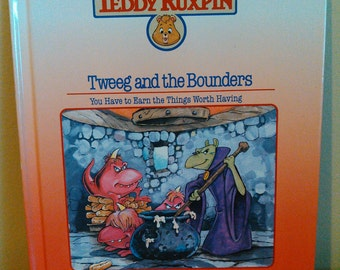 Vintage Worlds of Wonder Teddy Ruxpin Tweeg and the Bounders Book