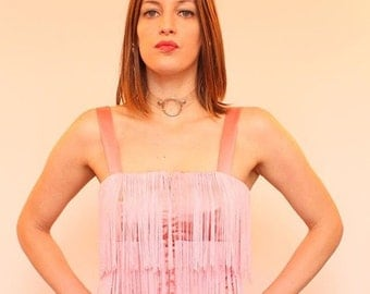 Pink Silk and Fringe Small Size