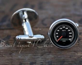 Speedometer cufflinks, speedometer, cuff links
