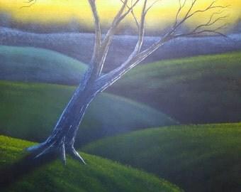 Original Landscape Painting Oil On Canvas #2 by Laszlo Musho