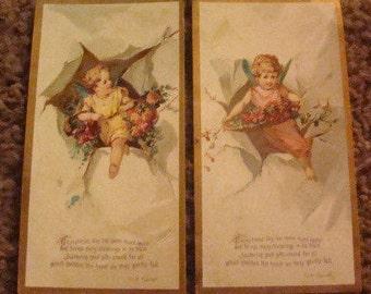 SALE 2 Pieces of Victorian Scrap (Children)