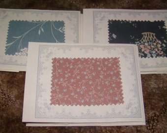 Lot of 30 Vintage Fabric Samples (1980's)