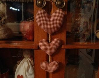 Hanging hearts ornament