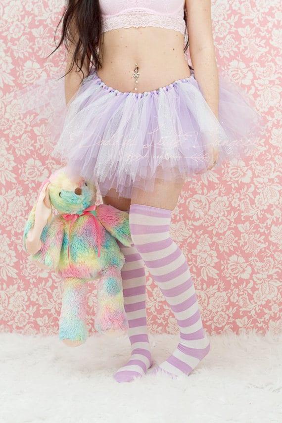 Ddlg Purple Daddy S Girl Lolita Stripe Bow Amp Rose Tall
